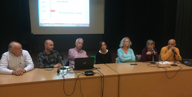 D'esquerra a dreta, Gallardo, Hernández, Farrés, Baré, Merino i Berlanga  Ràdio Sabadell
