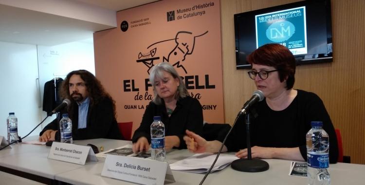 David Alba, Montserrat Chacon i Delícia Burset en la roda de premsa de la presentació del programa | Helena Molist