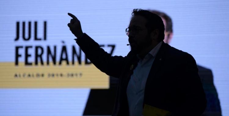 Juli Fernández en un moment del seu discurs | Roger Benet