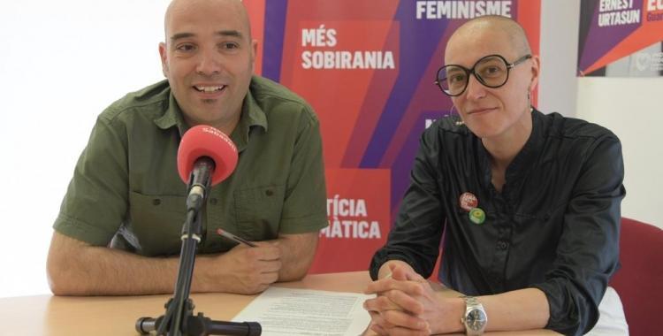 Joan Berlanga i Mar Garcia en roda de premsa | Roger Benet