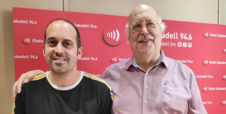 Miralles i Masip als estudis de Ràdio Sabdell   Pau Duran