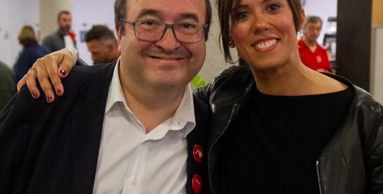 Farrés i Iceta, després de l'acte de tancament de campanya   PSC Sabadell