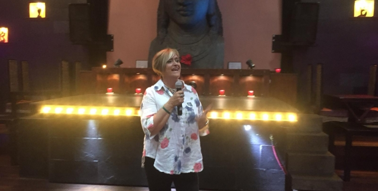 Marisol Martínez durant l'acte d'aquesta tarda   Ràdio Sabadell