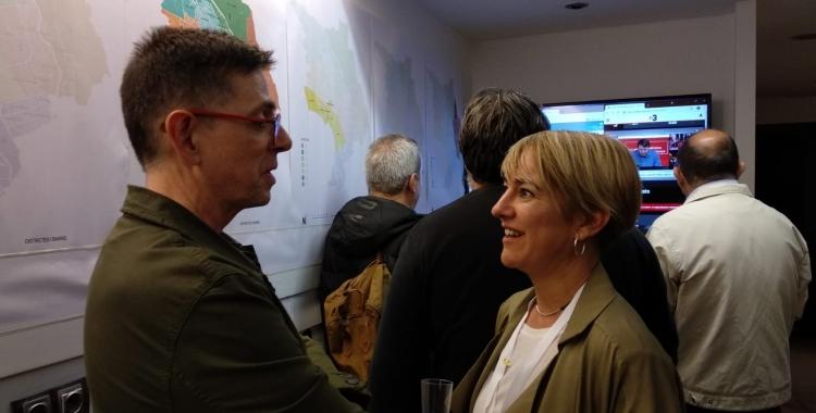 Lourdes Ciuró a la seu electoral del partit | Helena Molist