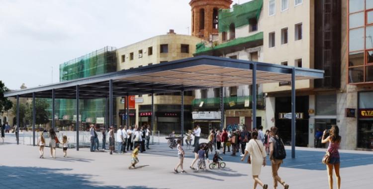 Projecció de com quedaria l'umbracle un cop finalitzada la construcció   Ajuntament de Sabadell