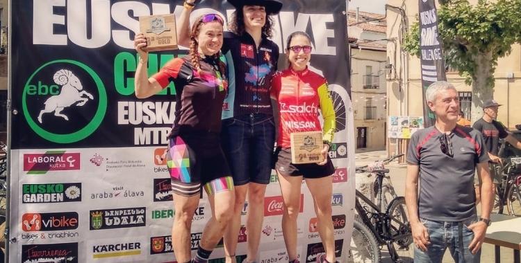 Xinxó va trepitjar el podi dissabte en la seva estrena a l'Euskobike | Instagram