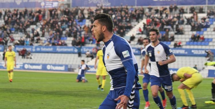 Néstor Querol celebrant el seu gol contra el Villarreal B | Sandra Dihör