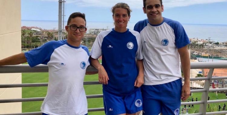 Albert Martínez, Èlia Garcia i Óscar Salguero a Tenerife   CNS