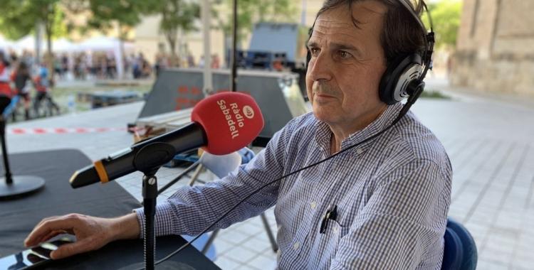 August Serra durant la Fira de les Entitats de la Festa de l'Esport | Pau Vituri