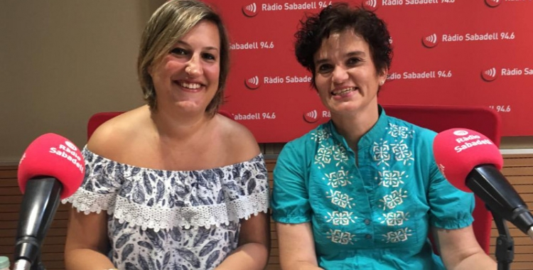 Susana Lánguiz i Agnès Mestres avui a Ràdio Sabadell