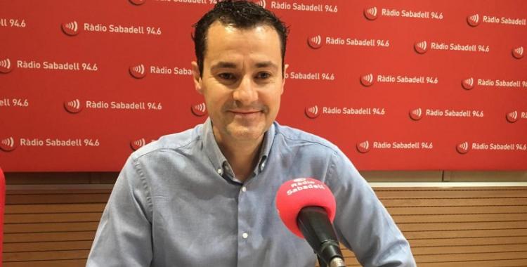 El gerent de l'OSV, Oscar Lanuza, avui a Ràdio Sabadell