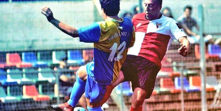 Silva enfrontant-se aquest últim any al seu nou club, el Sabadell Nord | UE Rubí