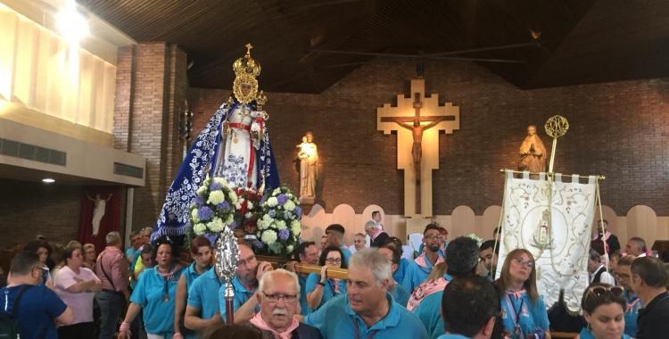 La verge dins de l'església de Ca n'Oriac | Ràdio Sabadell