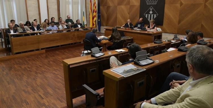 Ple de comiat a l'Ajuntament de Sabadell   Roger Benet