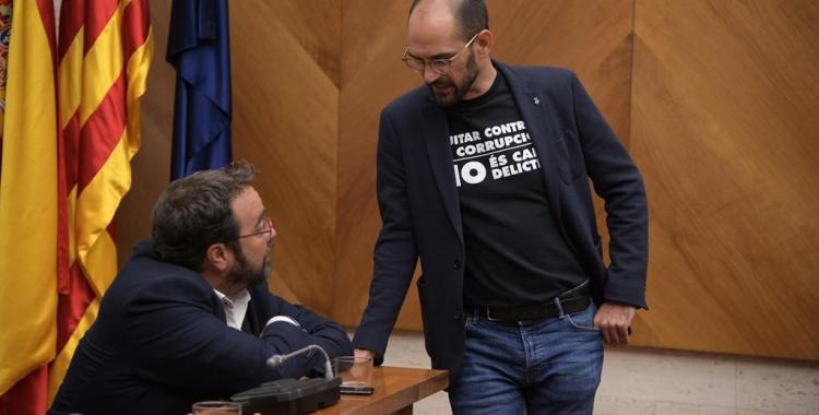 Maties Serracant i Juli Fernàndez, al Ple de Comiat d'ahir   Roger Benet