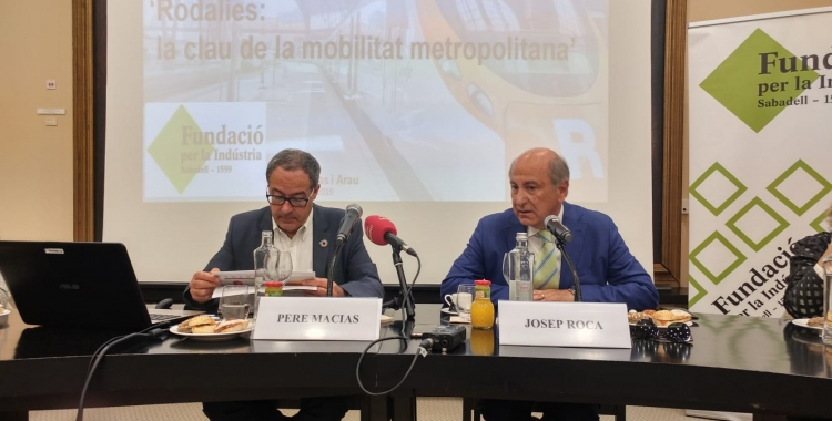 Pere Macias i Josep Roca, al Gremi de Fabricants | Pere Gallifa