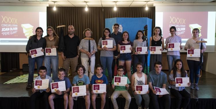 La foto de família dels guanyadors del certamen | Marc González Alomà / Ajuntament de Sabadell