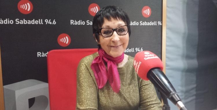 Mirna Lacambra en una entrevista a Ràdio Sabadell