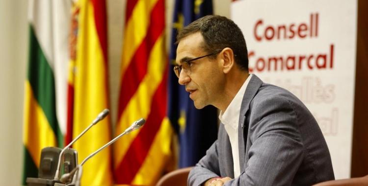 Ignasi Giménez durant el ple d'investidura a Sabadell | Consell Comarcal
