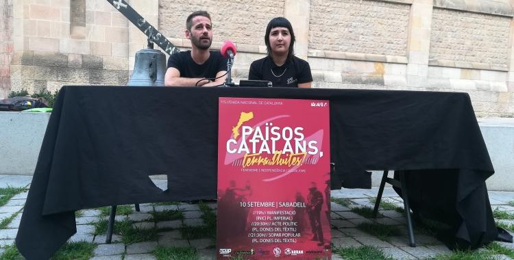 Jordi Mullor (Endavant) i Carme Hernández (Arran) | Sofia Megías
