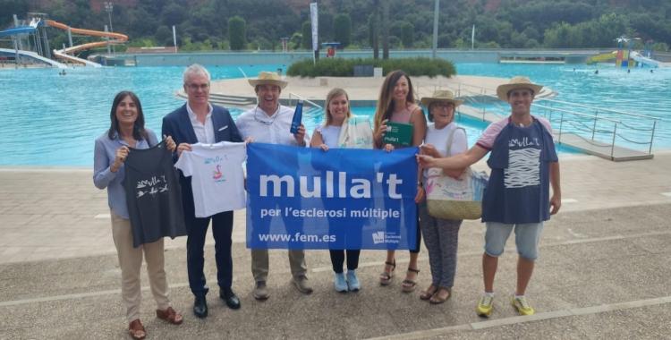 Representants de l'Ajuntament i de les entitats presentant el Mulla't | Pere Gallifa
