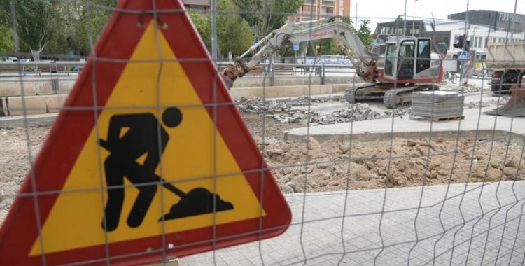 Les obres de millora de l'estació d'autobusos continuen segons el calendari previst   Roger Benet