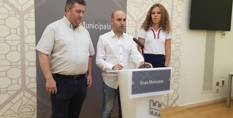 Els regidors de Ciutadans a la sala de premsa de l'Ajuntament de Sabadell | Raquel García