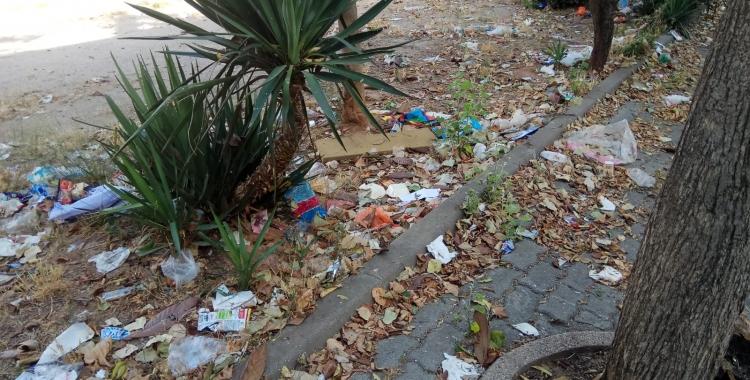 Manca de manteniment de l'espai públic dels Merinals | Cedida