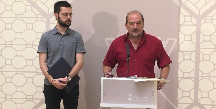 Eloi Cortés i Manuel Robles en roda de premsa | Mireia Sans