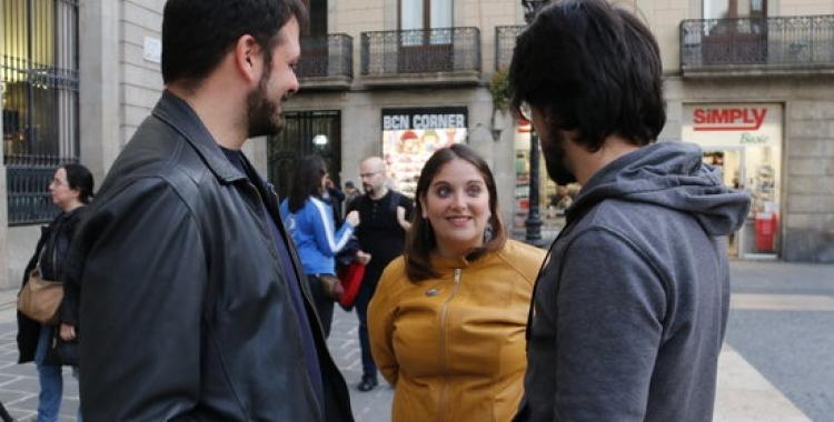 D'esquerra a dreta, Enric Pineda, Mabel Rodríguez i Ferran Reyes | ACN