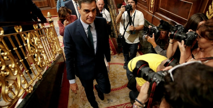 Pedro Sánchez abandona l'hemicicle | ACN