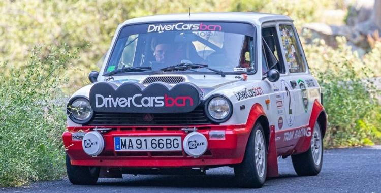 Giralt copilotant l'Autobianchi A112 a la prova francesa. | Image Derallye