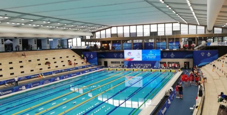 La competició de natació a la Universíada de Nàpols es va clausurar sense medalles per als participants del Club. | @Napoli2019_ita