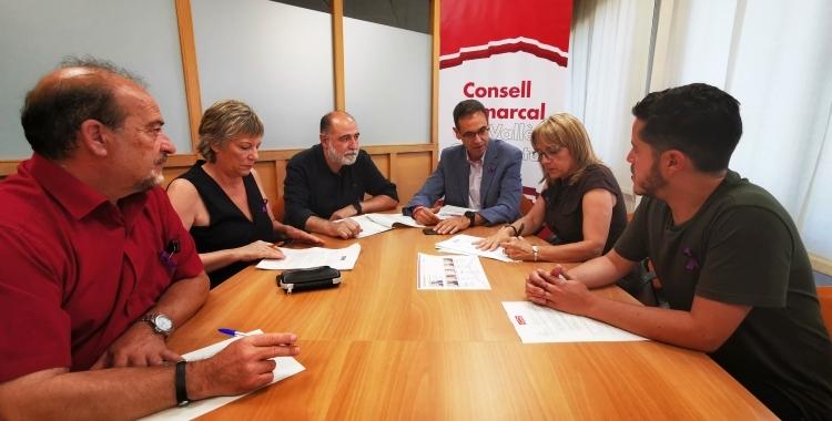 Imatge de la primera reunió del nou govern del Consell Comarcal | Cedida