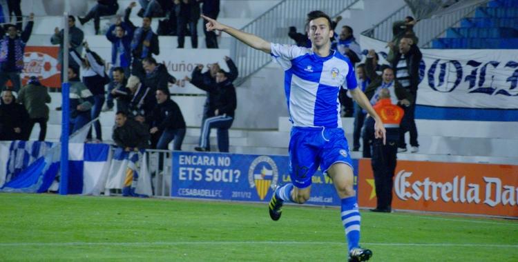 Lanzarote celebrant un dels gols que va anotar en el seu primer any com arlequinat | Pedro Salado