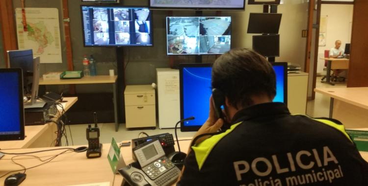 L'actual sala on treballen els agents |Ajuntament de Sabadell