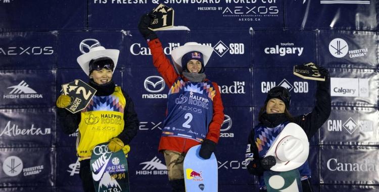 Castellet, al primer calaix del podi a la prova de la Copa del Món de Calgary | Cedida