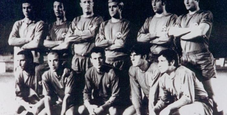 Onze arlequinat que avui fa 50 anys es va enfrontar al Bruges vestint de vermell | CES