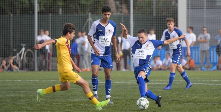 El Barcelona B va assaltar Olímpia tot i el bon partit fet pels juvenils arlequinats   Roger Benet