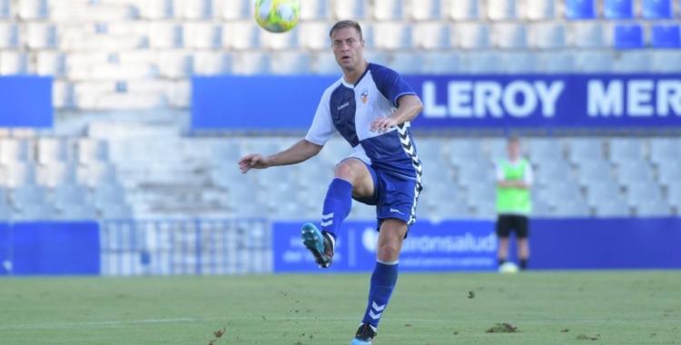 Olmo només va poder disputar 45 minuts en el seu segon debut amb el Sabadell | Roger Benet