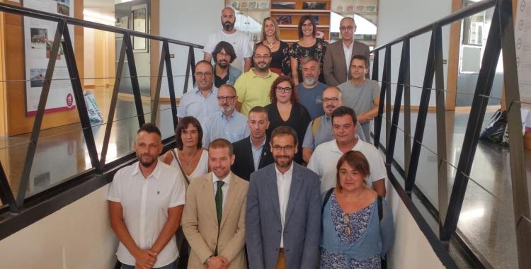 Els membres del Consell Plenari del Consorci, amb López i Giménez al centre | Ràdio Sabadell