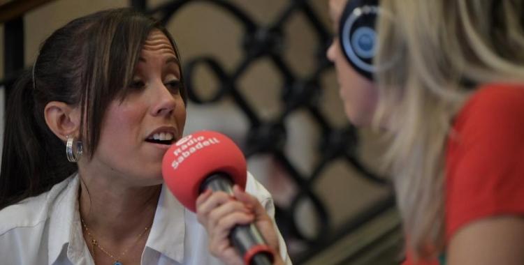 l'alcaldessa Marta Farrés, en la valoració feta al programa especial de la Festa Major de Ràdio Sabadell | Roger Benet