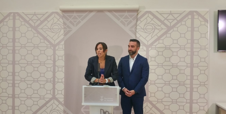 L'alcaldessa Marta Farrés amb FranciscoPolo, secretari d'Estat per a la Societat de la Informació i l'Agenda Digital | Ràdio Sabadell