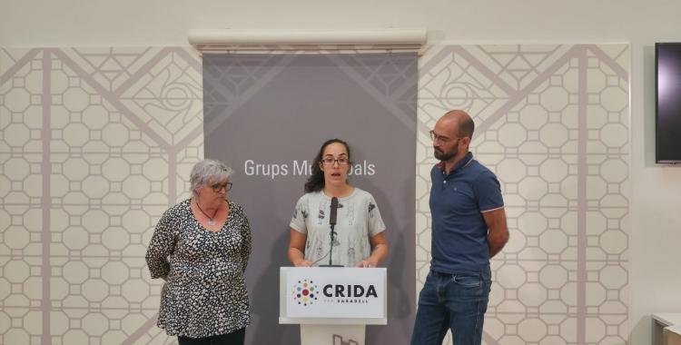 D'esquerra a dreta, Nani Valero, Anna Lara i Maties Serracant | Ràdio Sabadell