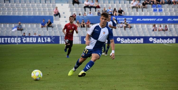 El gallec Aarón Rey, en el darrer partit a casa contra La Nucía   Críspulo Díaz