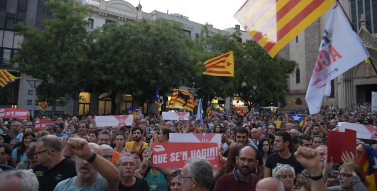 Concentració de protesta contra les detencions de la Guàrdia Civil | Roger Benet