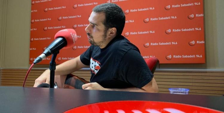 Ferran, als estudis de Ràdio Sabadell | Adrián Arroyo
