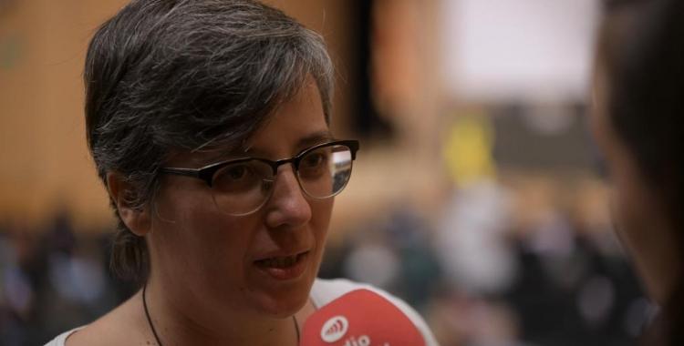Mireia Boya durant l'entrevista a Ràdio Sabadell   Roger Benet