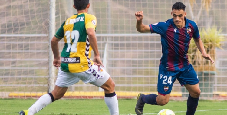 Rubio va marcar el gol de l'empat a Bunyol. | Atlético Levante