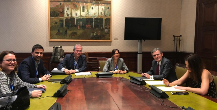 Farrés i gibert durant la Reunió a Madrid | Cedida